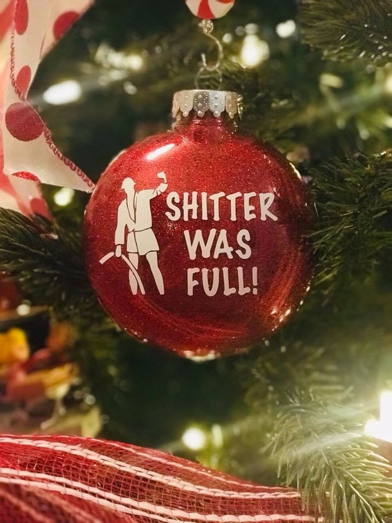 Christmas Vacation Shitter Was Full Cousin Eddie Ornament image 0