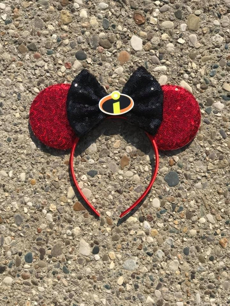 Incredibles Inspired Mickey Minnie Mouse Ears Jack Jack image 0