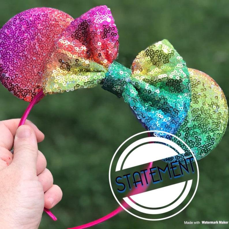 Ombre Pastel Rainbow Mickey Ears Pastel Rainbow Ears Rainbow image 0