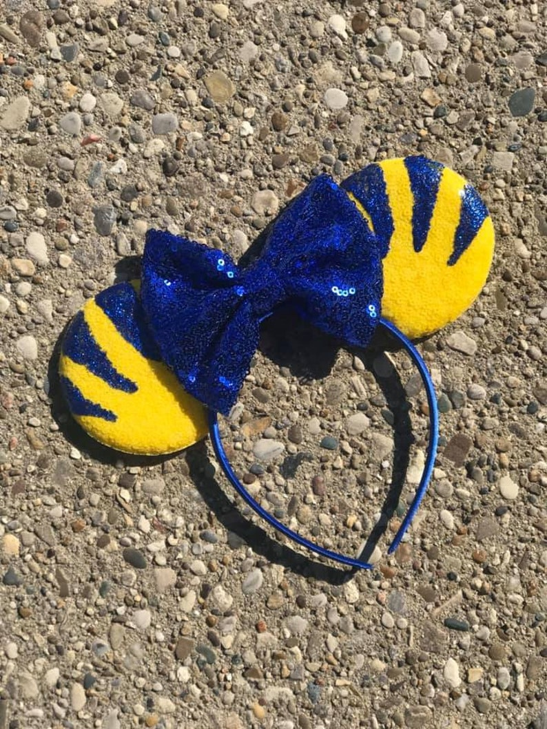 Flounder inspired mouse ears mermaid inspired mickey minnie image 0