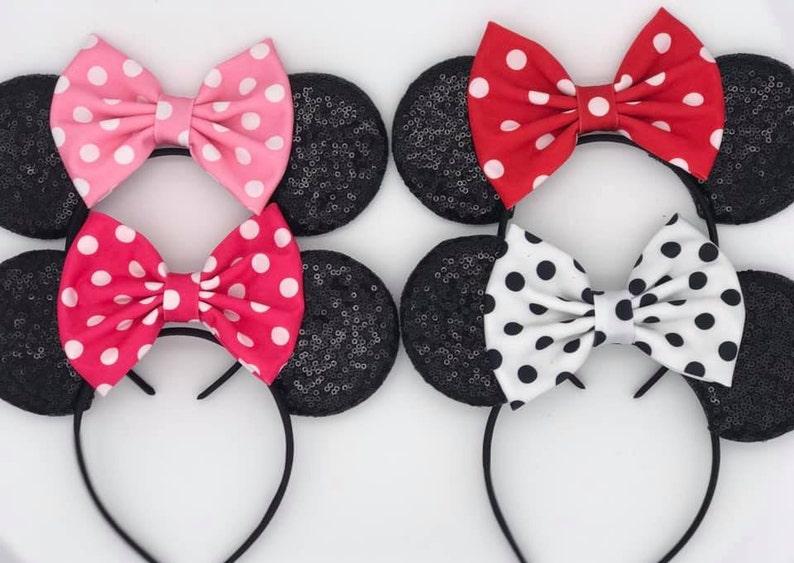 Polka Dot Mickey Ears Minnie Mouse Ears Mickey Ears image 0