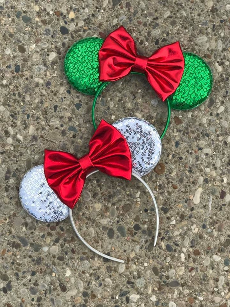 Mickey's Christmas Party Mickey Minnie Mouse Ears image 0