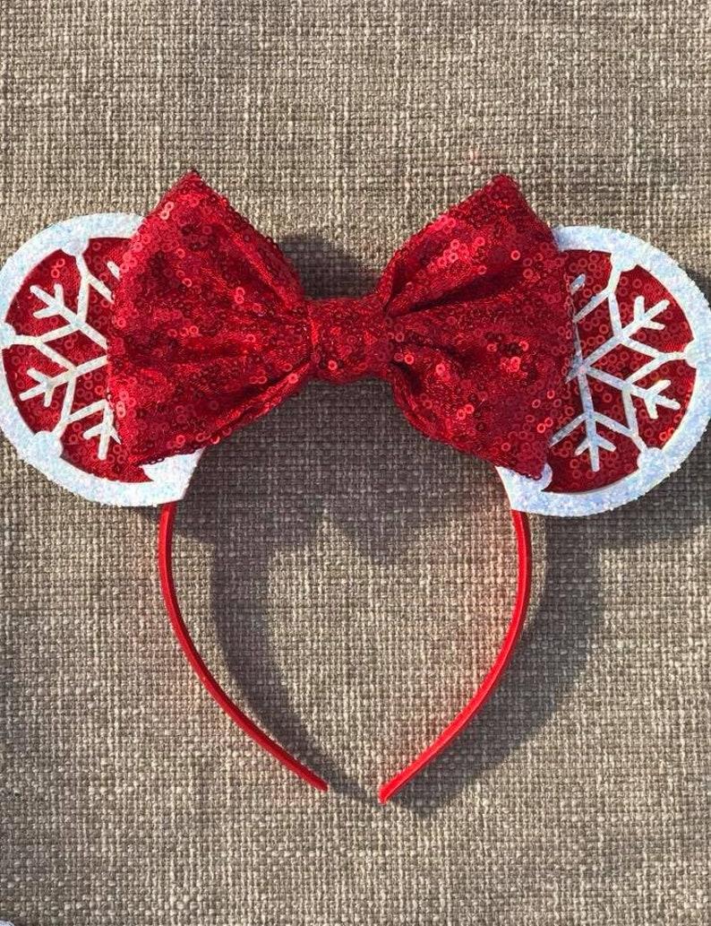 Snowflake Mickey Mouse Ears Christmas Mouse Ears Disney image 0