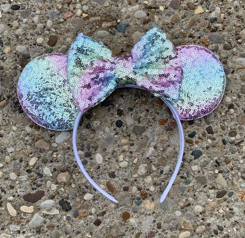 Pastel Rainbow Ombre Mickey Ears Pastel Mickey Minnie Mouse image 0