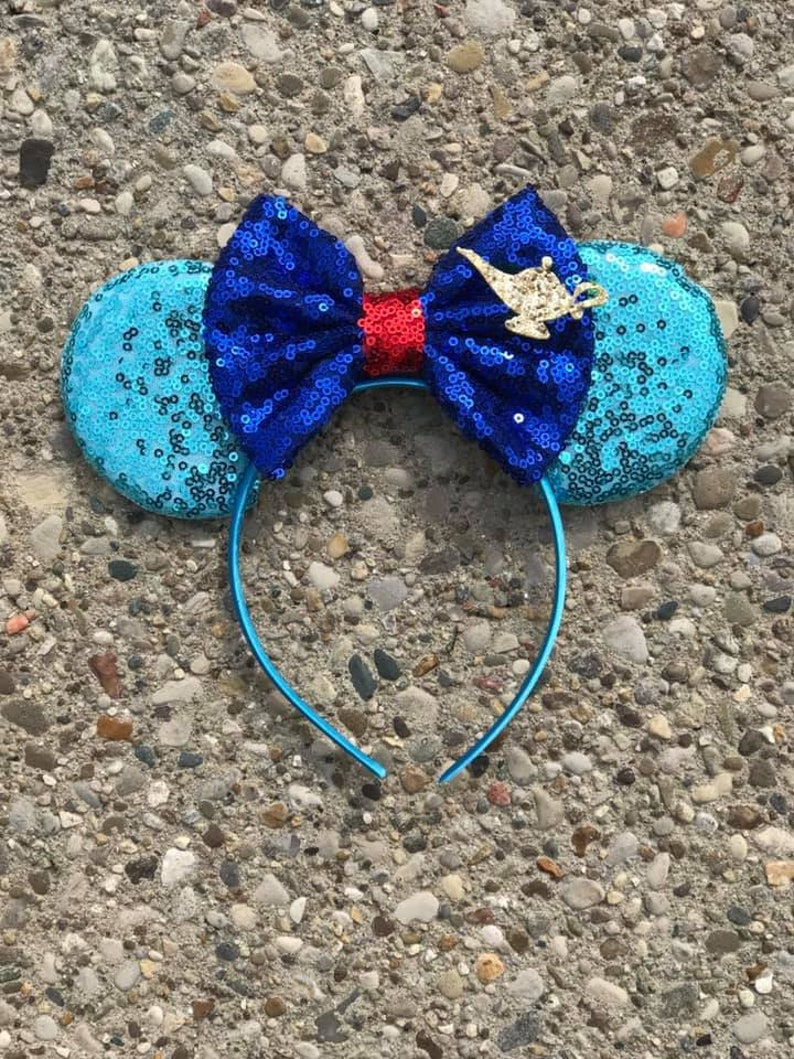 Aladdin Genie Inspired Mickey Minnie Mouse Ears Genie Mickey image 0