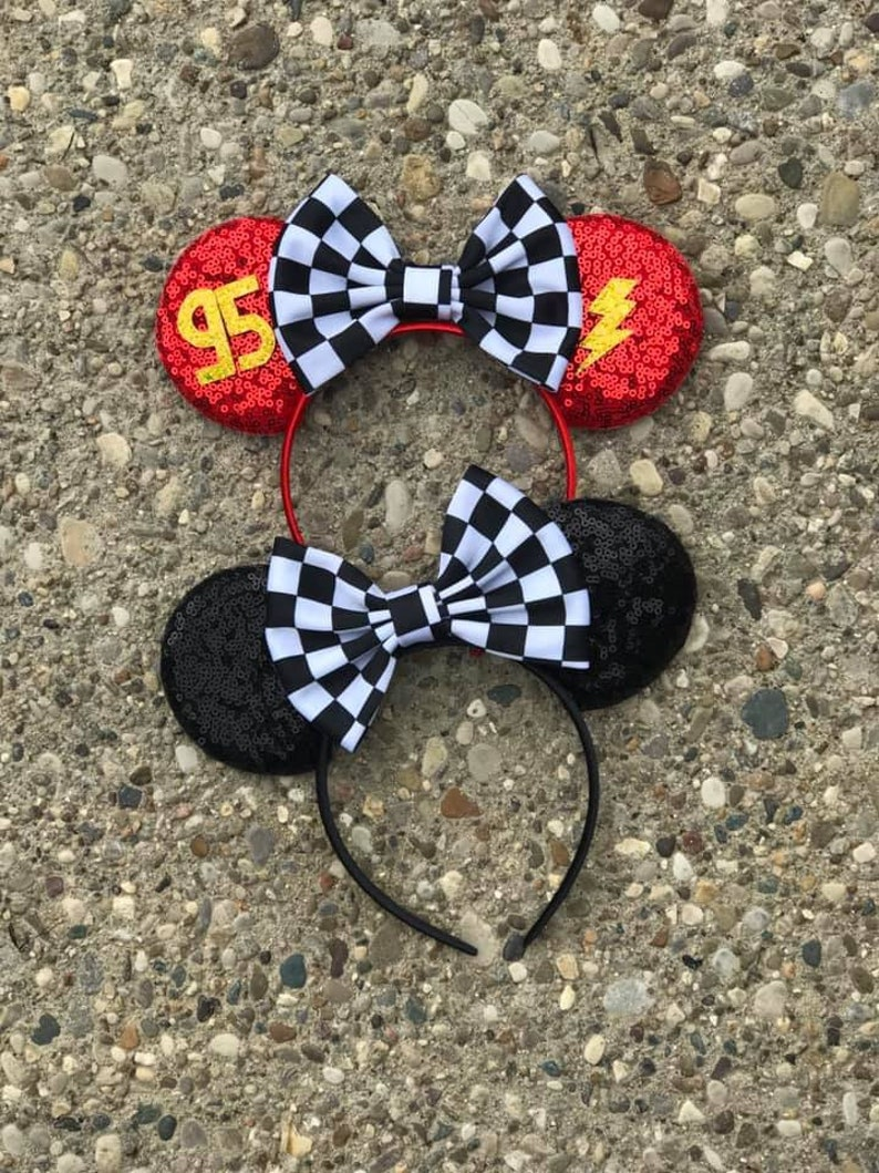 Cars Lightening McQueen Inspired Mickey Mouse Ears Carsland image 0