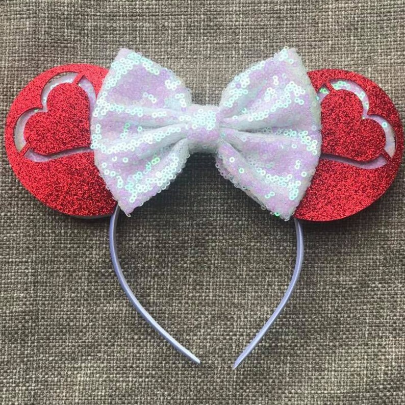 Valentine Mickey Ears Classic Minnie Mouse Ears Heart Mickey image 0
