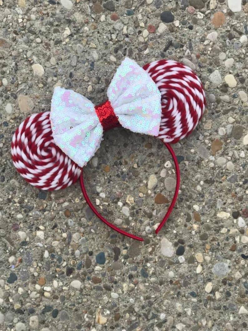 Peppermint Twist Mickey Minnie Mouse Ears Minnie Ears Disney image 0