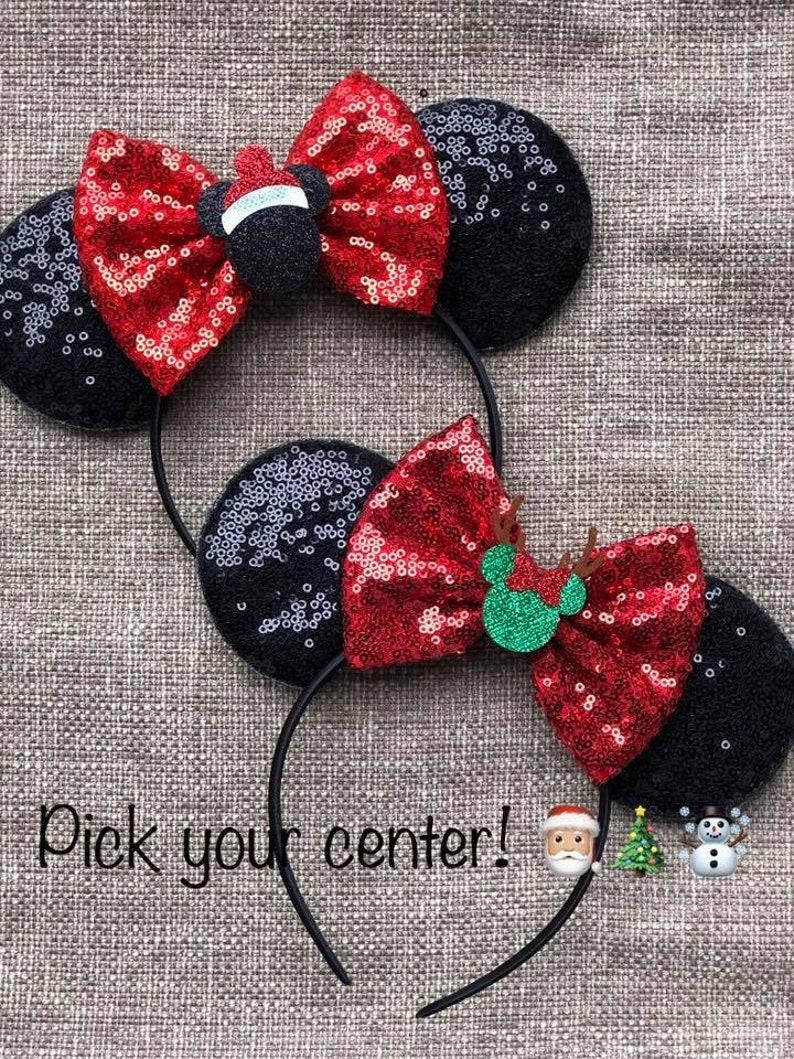Christmas Mouse Ears Reindeer Mouse Ears Christmas Minnie image 0