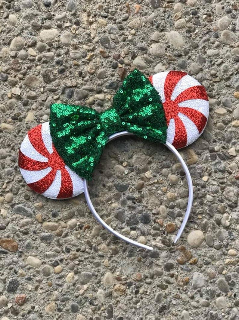 Peppermint Candy Mickey Minnie Mouse Ears Minnie Ears Disney image 0