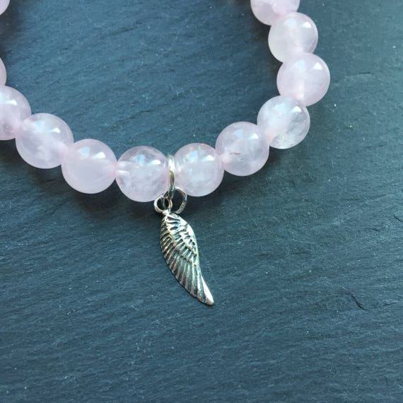Eating Disorder Recovery Rose Quartz Gemstone Bracelet Etsy