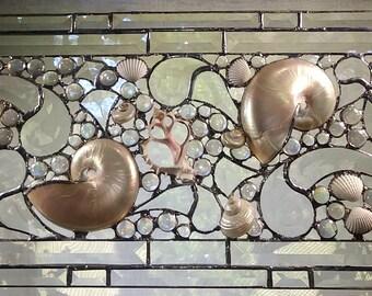 Bevel Panel with Nautilus - Large
