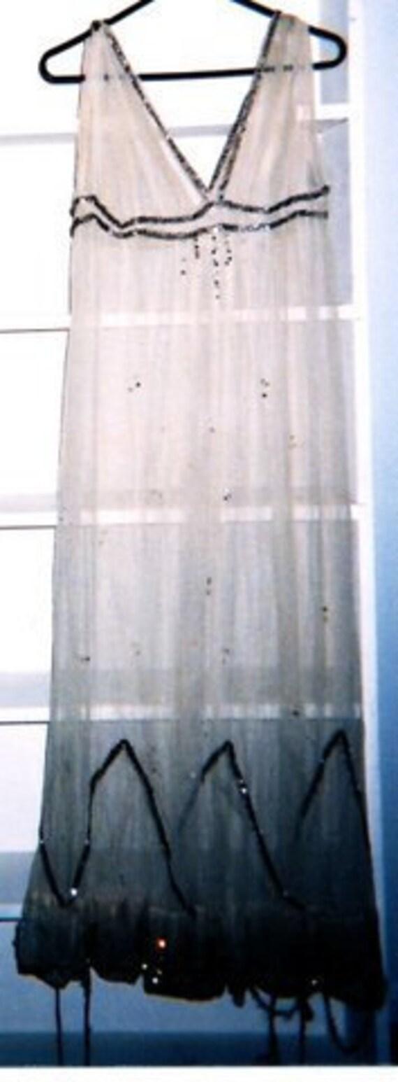 1920 lace dress with original rhinestones