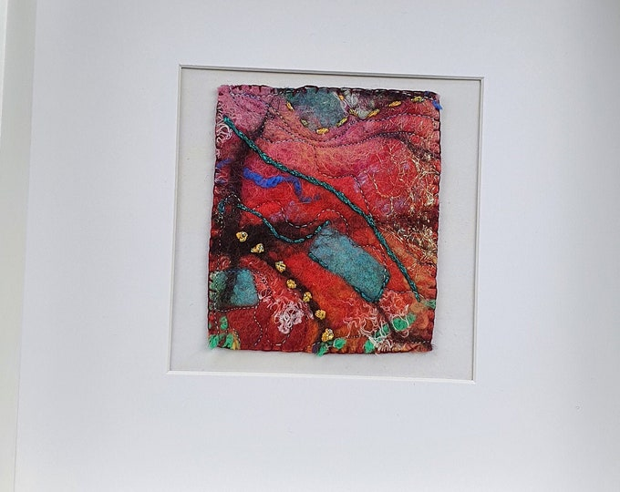 Wet-felted Picture (fsmpic4), hand made picture.