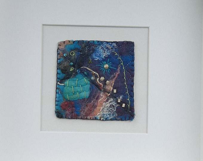 Wet-felted Picture (fsmpic5), hand made picture.