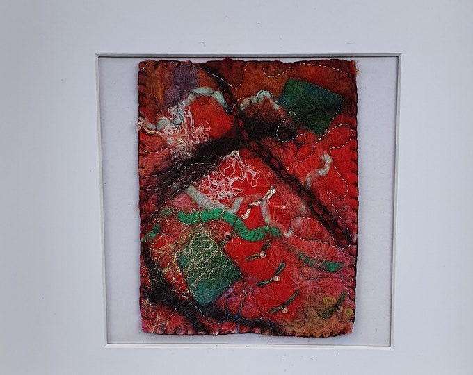 Wet-felted Picture (fsmpic3), hand made picture.