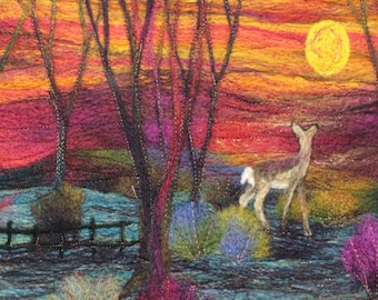 Needle felting kit (Deer at Sunset)