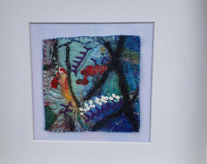 Wet-felted Picture (fsmpic2), hand made picture.