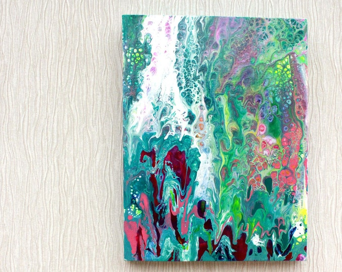Hand-made, original hand-painted picture, Acrylic Pour