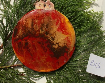 Personalised Christmas Bauble, decoration (B13), Hand-Painted, acrylic with resin coating