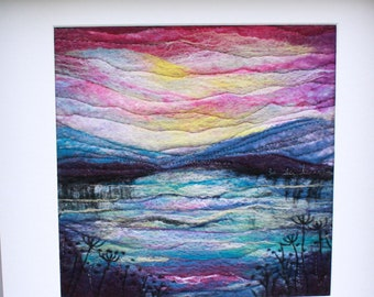 Large Needle-felted Picture in Deep Edge Frame