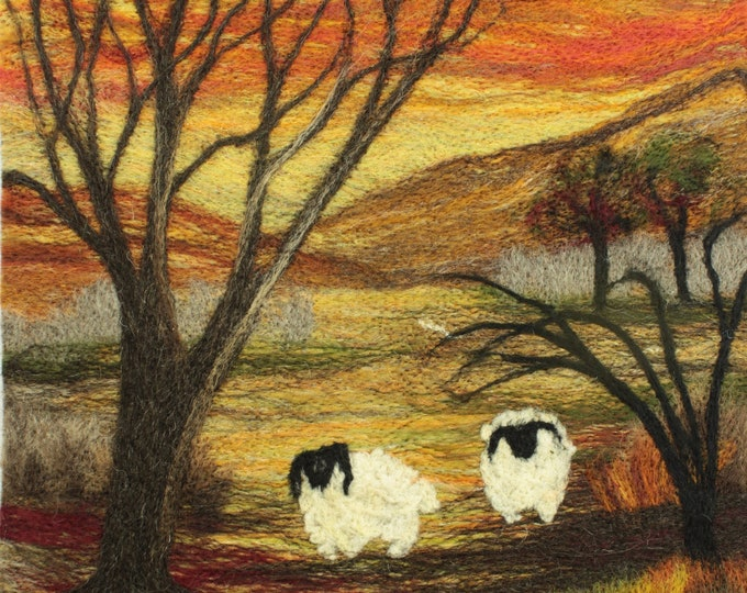 Needle felting kit (Sheep at Sunset)