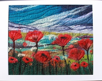 Large Needle-felted Picture (lpic2), hand made picture.