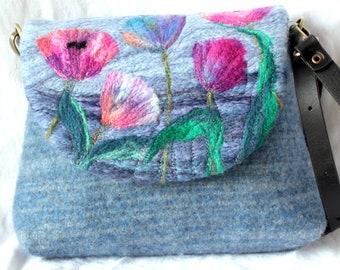 Handmade felted shoulder bag (small)