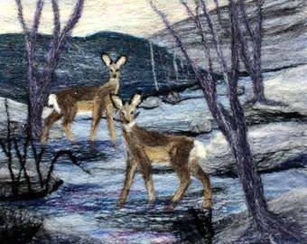 Needle felting kit (Deer in the Stream)
