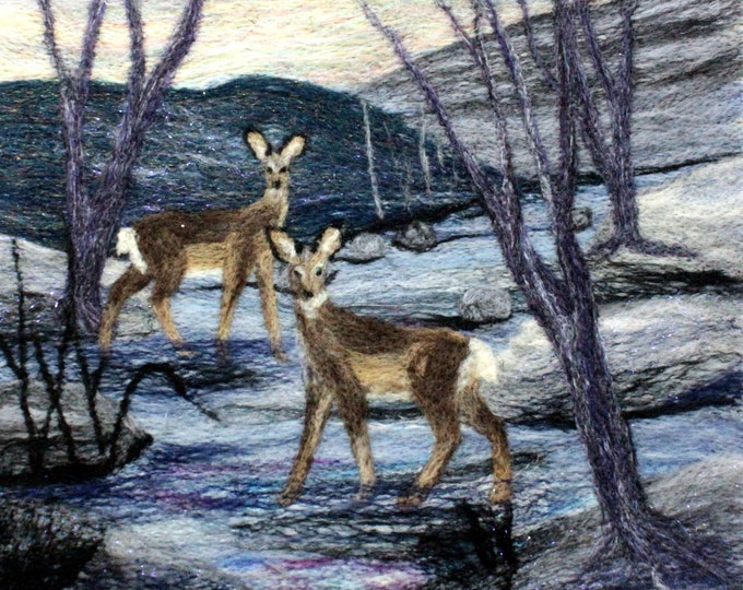 Needle felting kit (Deer in the Stream)