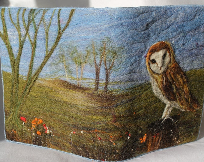 Book Cover/Picture Needle felting kit (Owl)