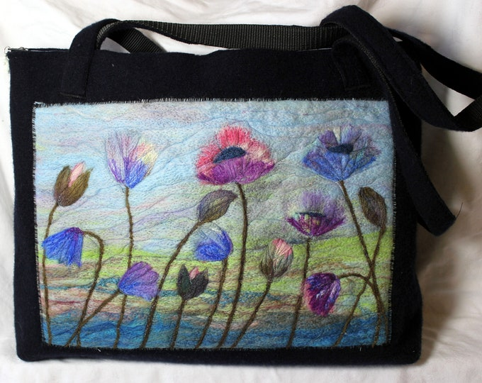 Large handmade felted work bag (cb4)