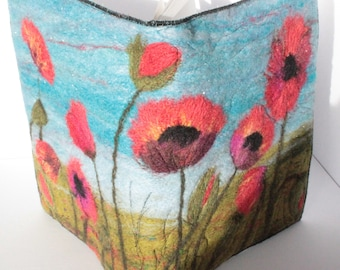 Book Cover/Picture Needle felting kit (Poppies)