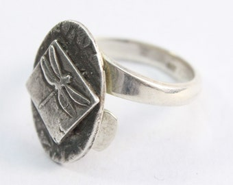 Hand-made, Adjustable, Solid Silver Ring