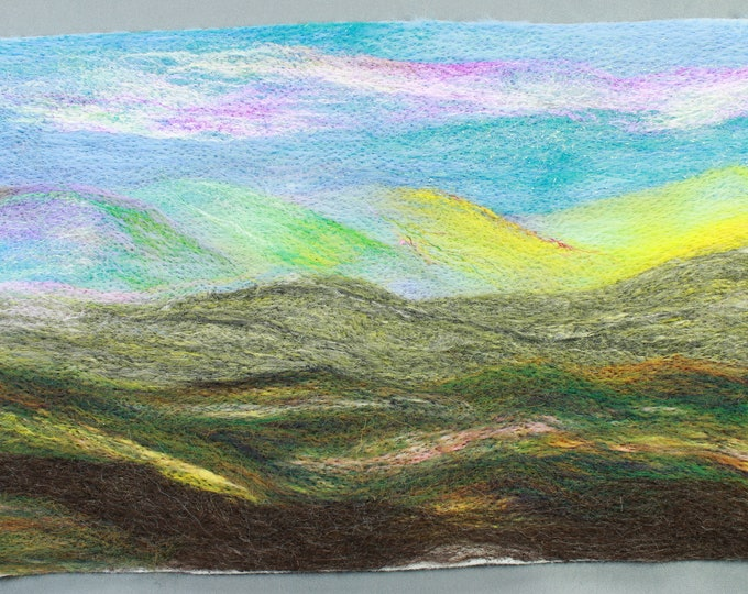 Needle Felted Background. Ideal for creating a Needle-Felted Picture or an Embroidered/Needlework Background.