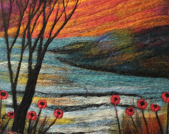 Needle felting kit (River at Sunset)