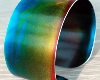 Hand-made Anodised Aluminium Bangle