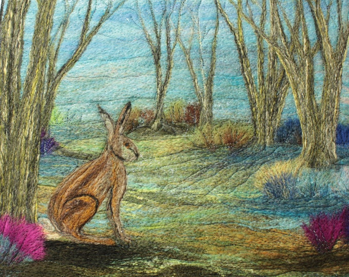 Needle felting kit (The Hare)
