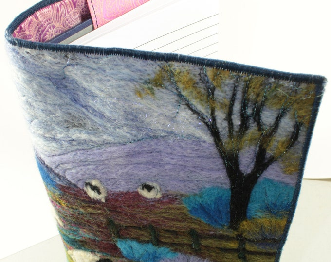 Book Cover/Picture Needle felting kit, (Welsh Sheep)