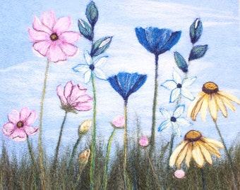 Needle felting kit (Summer Flowers)