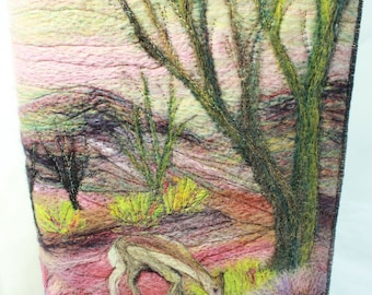 Needle-felted book cover