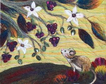 Needle felting kit (Harvest Mouse)