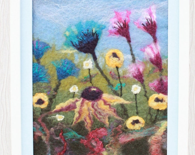 Large Needle/Wet felted Picture in a Frame