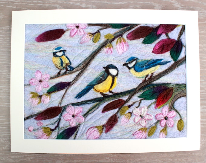 Large Needle-felted Picture (lpic3) , hand made picture.