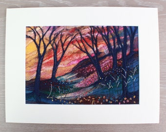 Large Needle-felted Picture (lpic6), hand made picture.
