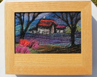 Oak Jewellery Box (Box4) with Needle-Felted Inlay