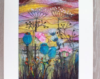 Large Needle-felted Picture (lpic5), hand made picture.
