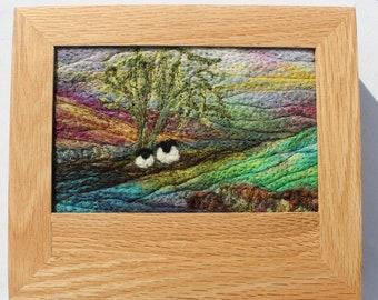 Oak Jewellery Box (Box2) with Needle-Felted Inlay