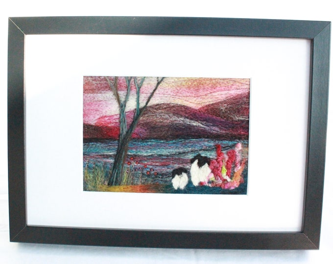 Needle felted Picture, hand made picture.