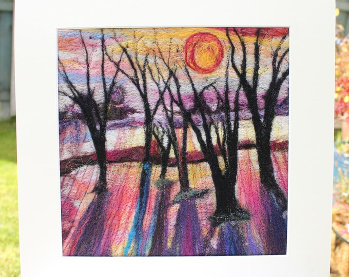 Large Needle-felted Picture (lpic8) , hand made picture.